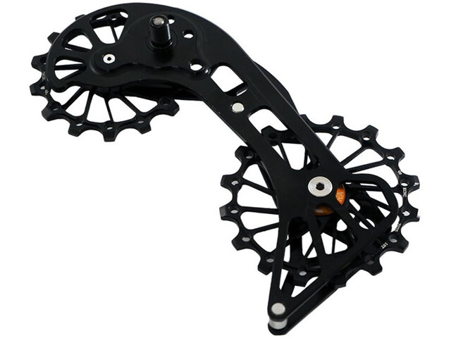 KCNC Jockey Wheel Pulegge per MTB SRAM XX1 Eagle 14/16 denti cuscinetto SUS, nero